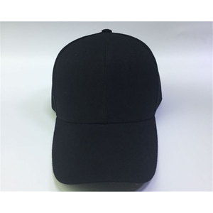 Cheap Blank 6panel Plain Black Baseball Hat Cap