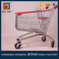 Portable foldable shopping trolley bag, cheap shopping cart with wheels