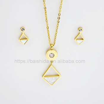 new design geometry stainless steel jewelry fake accessories