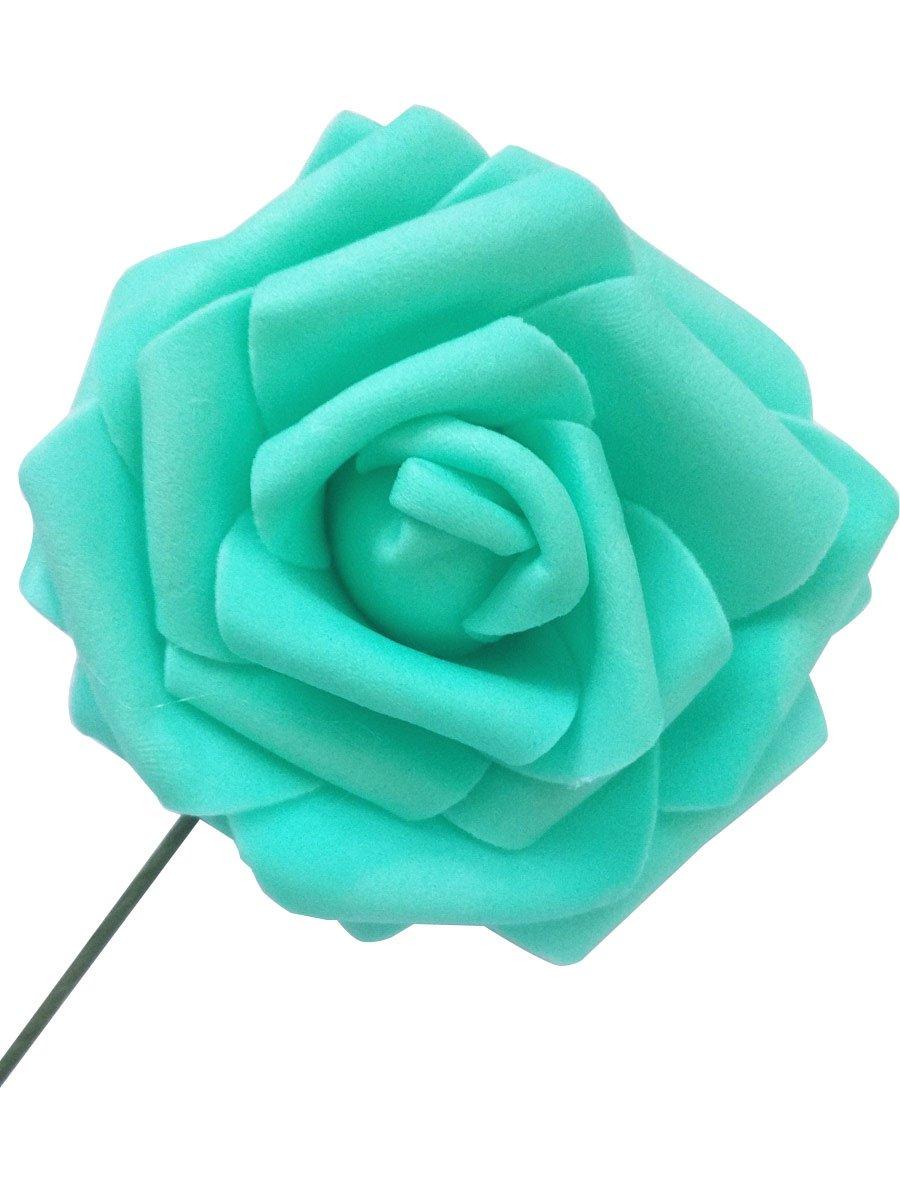 Buy opzo 10 pack artificial flower for wedding decoraion home opzo 10 pack artificial flower for wedding decoraion home display office ornaments tiffany blue izmirmasajfo
