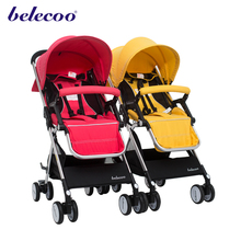 Belecoo light weight portable baby stroller baby pram 3 in 1 with EN1888