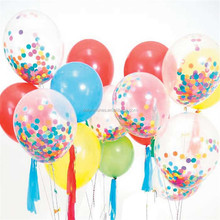 "12"" 18"" 36"" Clear Latex Balloon With Confetti Baby Shower Party Supplies"