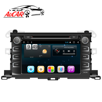 "AuCAR 8"" Android Car DVD for Toyota Highlander 2015 2016 2017 2018 Head Unit Car Radio Stereo Video Bluetooth 4G IPS WiFi Audio"