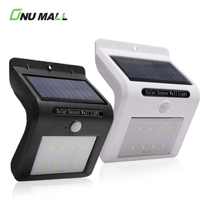 Waterproof PIR Outdoor 8 LED Garden Solar Sensor Wall Light