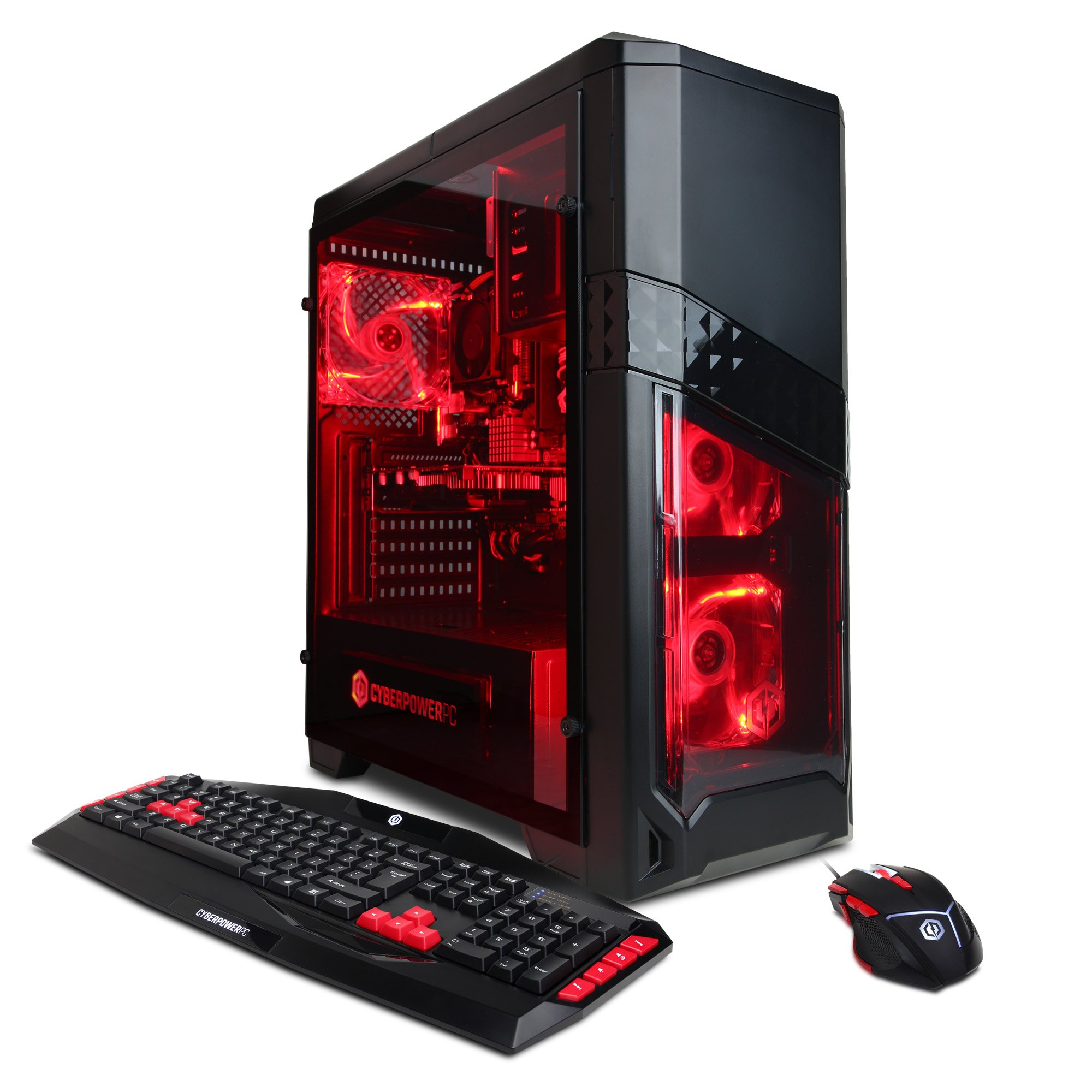 CYBERPOWERPC Gamer Ultra GUA3120A w/ AMD FX-4300 3.8GHz CPU, 8GB DDR3, AMD R7 250 2GB, 1TB HDD, 24X DVD+-RW & Win 10 Home 64-Bit Desktop Gaming PC