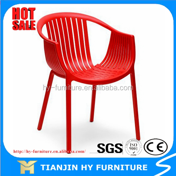 Shell plastic bar/dining chair with armrest, HYX-607