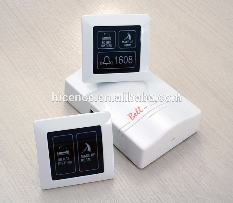 Smart Hotel Multi-functional Wait MUR DND Doorbell System with LCD Touching Screen