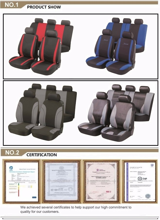 fashion High quality 3D Ice Silk leather car seat cover