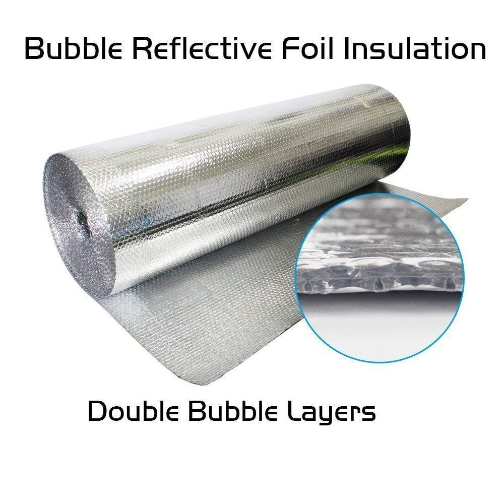 AES 4ft x 100ft White Double Bubble Reflective Foil Insulation Thermal Barrier R8#2