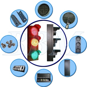 3 color led traffic warning light 100mm