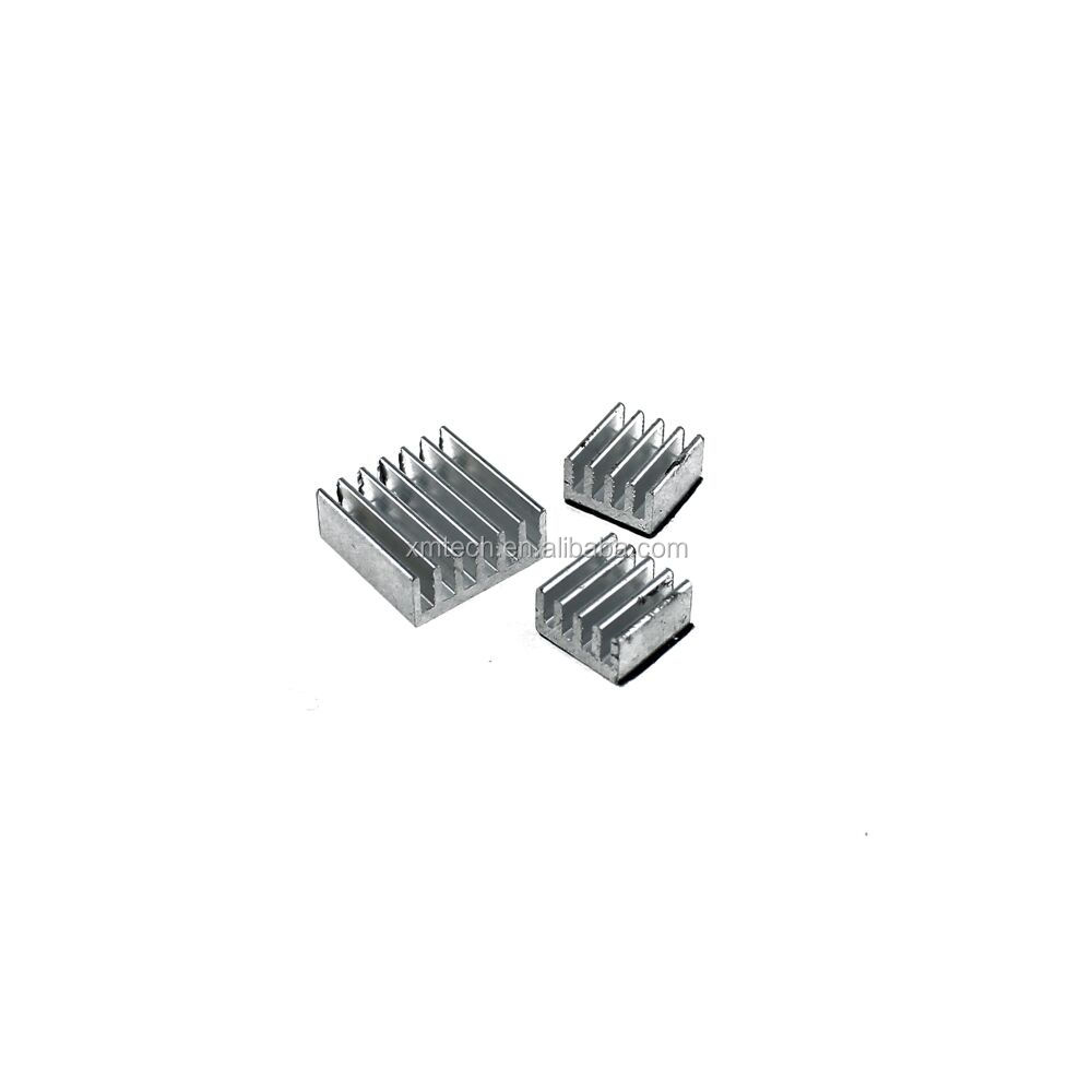 Good quality Adhesive Aluminum Heatsink Cooling Kit One Set of 3 pcs for Raspberry Pi 2 B B +