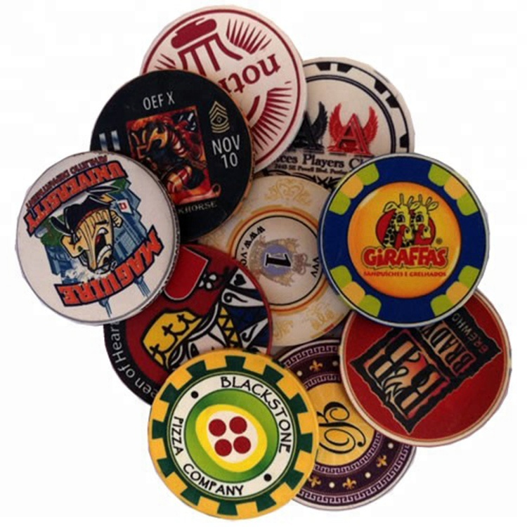 Casino gokken spel set premium clay poker chip set