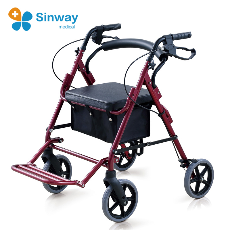 Drive Handicap Rollator Walkers with Seat and Footrest