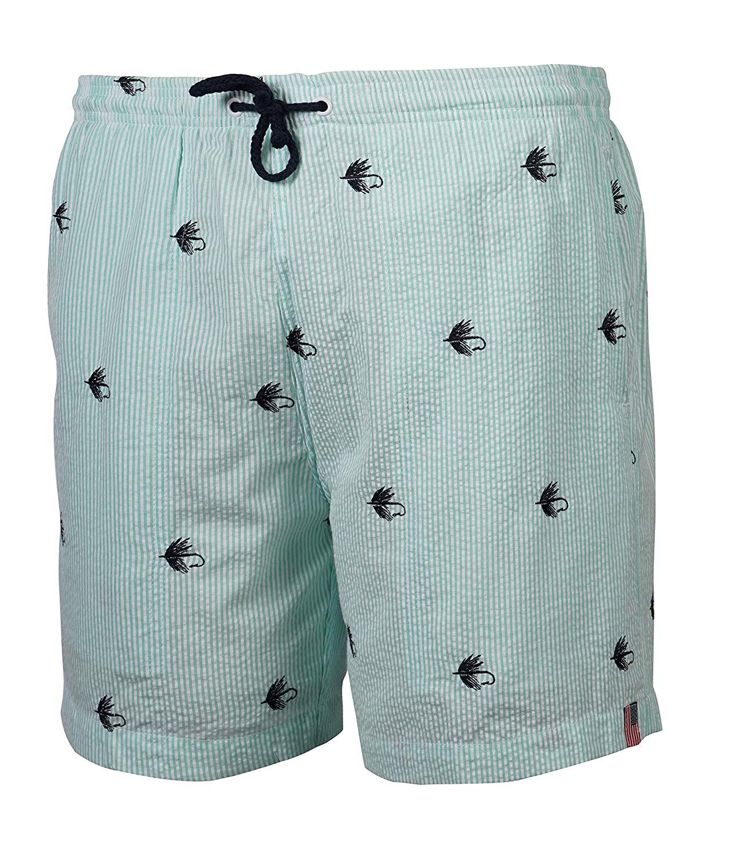 95528183c2 Get Quotations · Weekender Men's Fly Seersucker Stripe Volley Swim Suit  Trunk