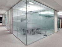 Office Translucent Partition Tempered Toughened Frosted Glass Wall