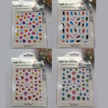 Nail Design Watermerk Nail Sticker Gemengde Bloem Nagels Art Buy