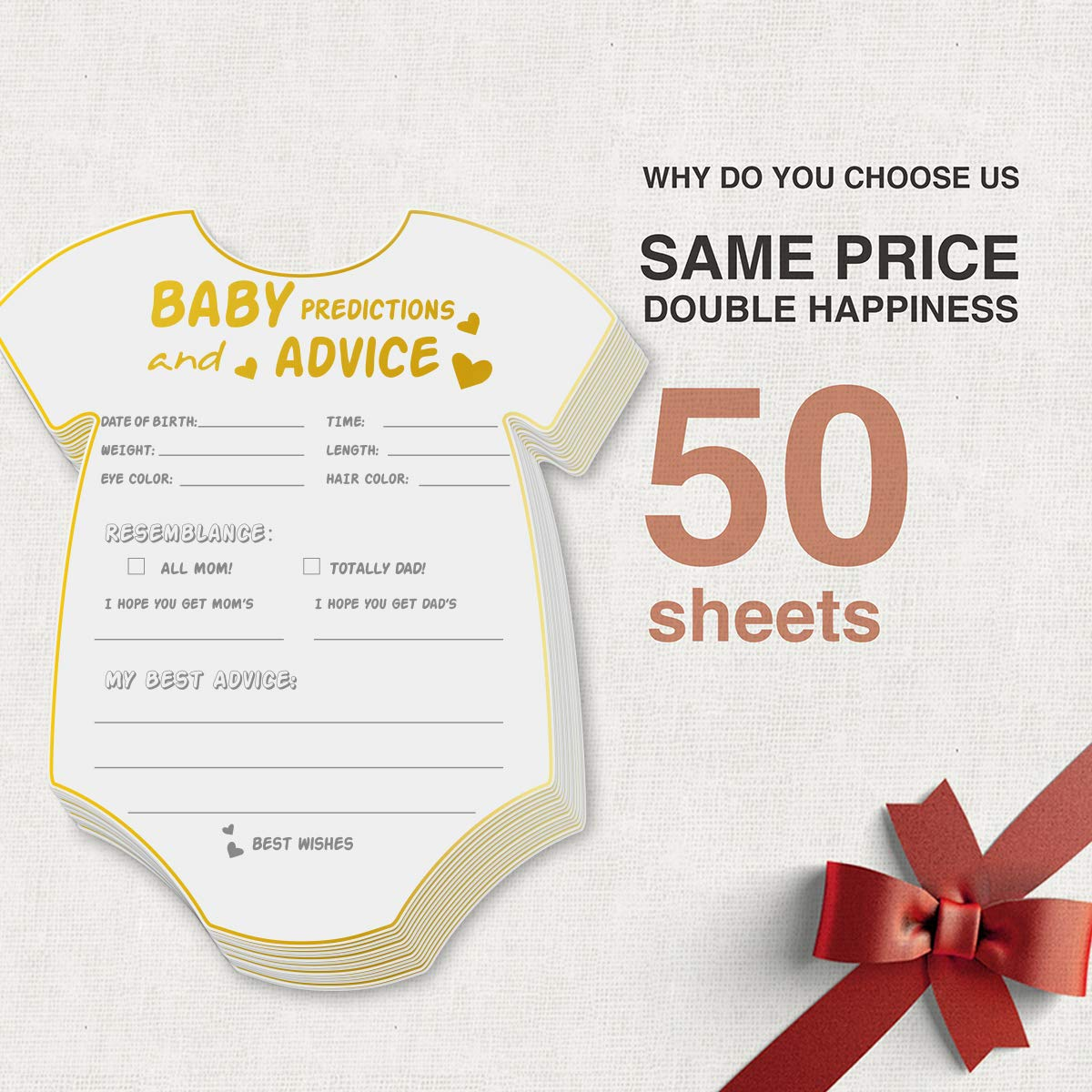 50 Pack Custom Greeting Card 5*6 inch Baby Shower Invitation Card