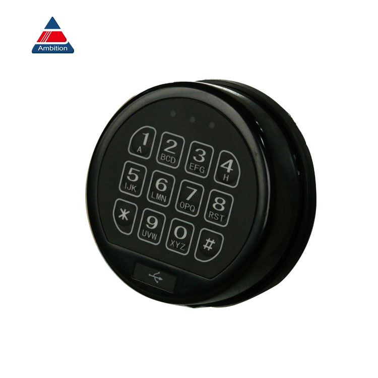 Silver mini digital keypad locker lock