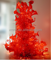 Contemporary Hand blown art decorative unique glass flowers floor statue lamps
