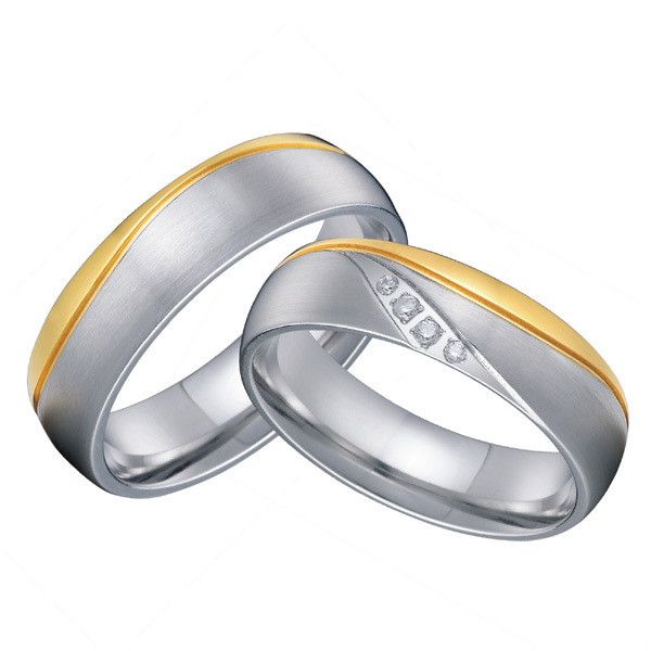 3e45bef373b669 classic his and hers european western titanium wedding matching couples  rings set for lovers alliance anel