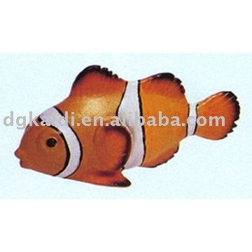 Colorful gold fish plastic craft
