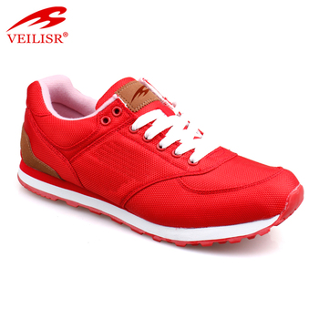Red Color Fashion Oxford Fabric Casual Shoes For Women