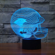 STL NFL Logo Collectie Carolina Panthers Chicago Bears Baltimore Ravens Sport <span class=keywords><strong>Team</strong></span> 3D Kleur Veranderende Licht 3D nachtlampje voor C