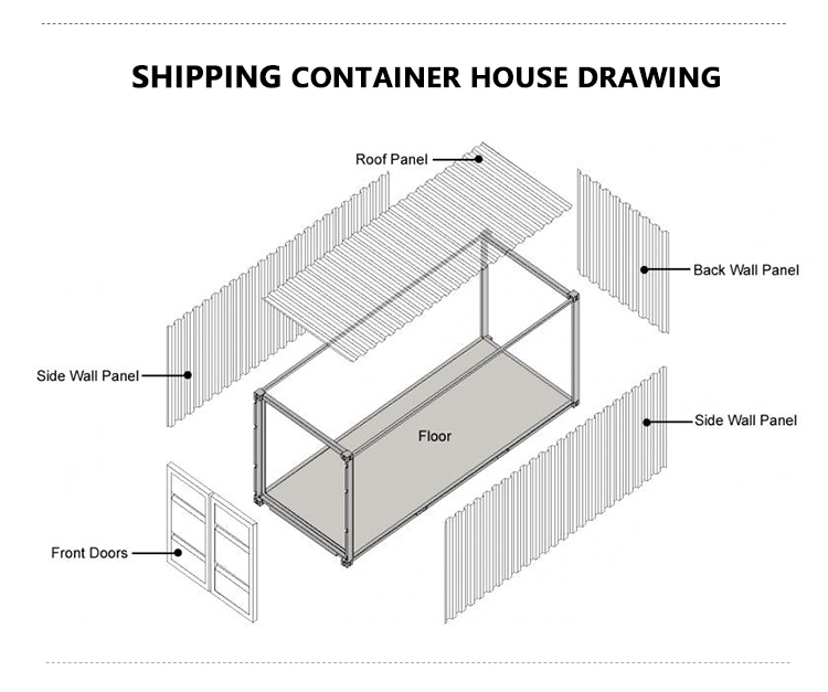 Cheap Shipping 40ft Container Prefab House For Sale Buy