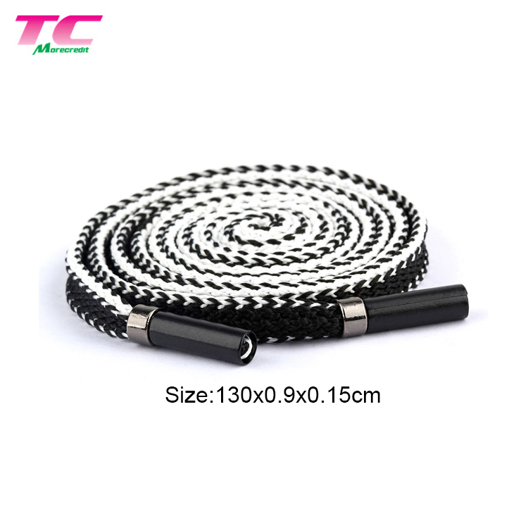 Wholesale Black Flat Polyester Flat Drawcord Drawstrings Garment Hoodies Lace Trim String