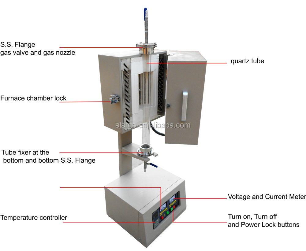 Vertical Tube Furnace Cvd Lab Equipment For Research