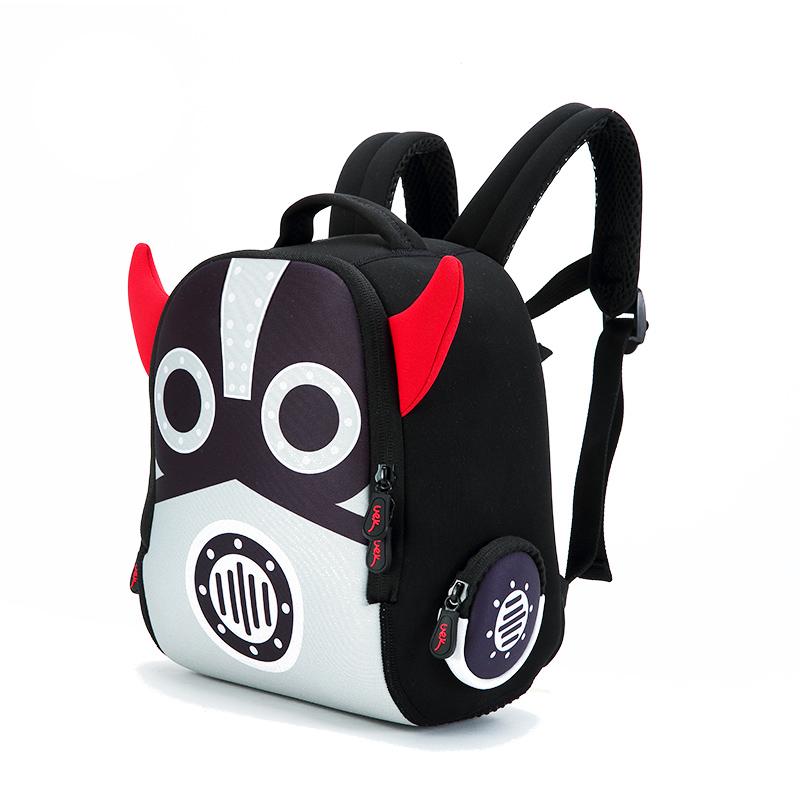 35c7dcebbc30 Uek Kids kindergarten schoolbag children boys and girls small robot baby  cartoon backpack