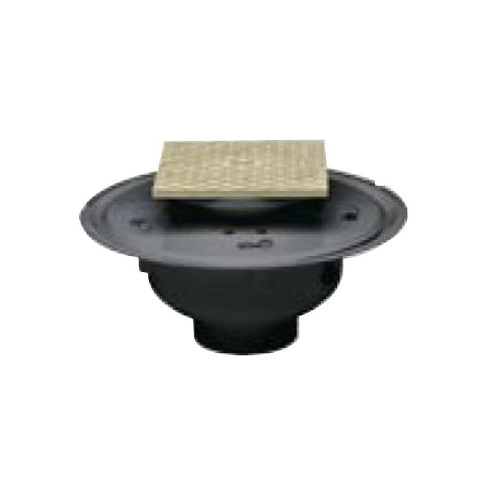 Oatey 74146 PVC Adjustable Commercial Cleanout with 6-Inch BR Cover and Square Ring, 6-Inch