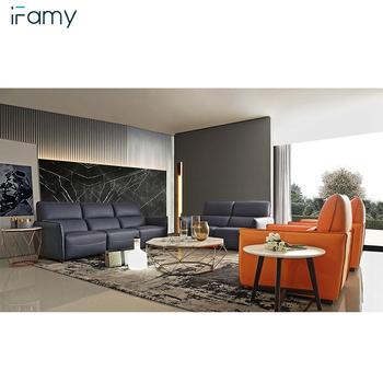 Modern Living Room Furniture Sets For Apartments Genuine Leather Sofa Set -  Buy Leather Sofa Set,Furniture Sofa Living Room,Modern Tea Table Product ...