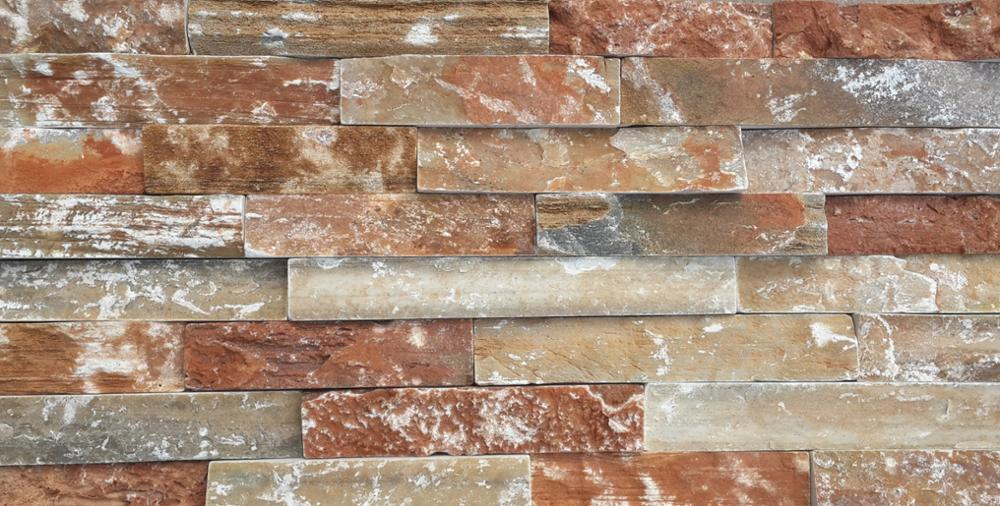 Interior Stone Veneer Products : Gold natural interior stacked real stone veneer panels