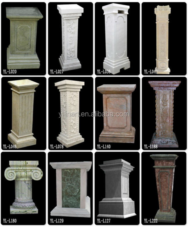 Wooden Pillars Designs : Decorative marble square columns gate pillar design buy