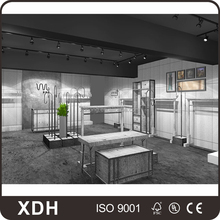 Cheap price wooden retail clothes shop display design