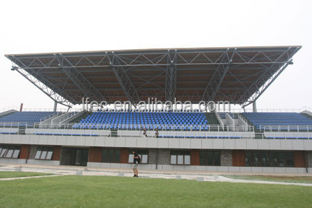 Prefab light weight grid structure basketball stadium
