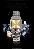 High bright diamond metal band rose/gold silver color fashion avon quartz lady watches Jewelry clasp wrist watch
