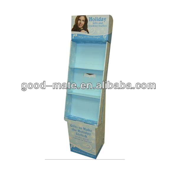 Cardboard Corrugated Cosmetic Display Cabinet Cosmetic Display Shelf
