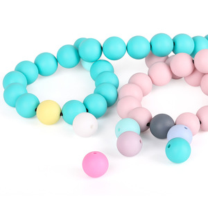 Wholesale Multicolor Polygonal Beads Silicone Beads For DIY and Baby Teeth Sticks