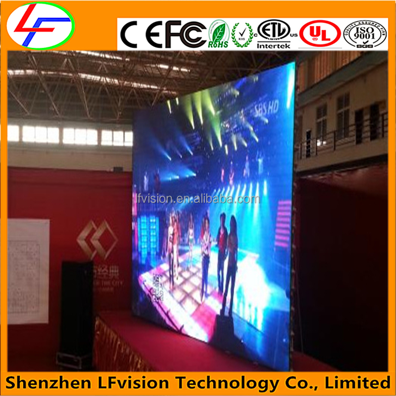 MBI 5124 IC Stage Background Led Display Screen With High Contrast Ratio HD Video Wall