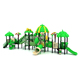JINGQI Hot sale kids outdoor playground equipment with plastic slide children playground items for sale