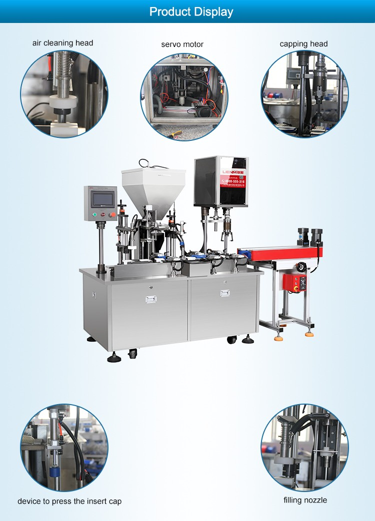 LM-SRG-A Lotion Cream Filling Capping Machine/Daily Cosmetic Production Line