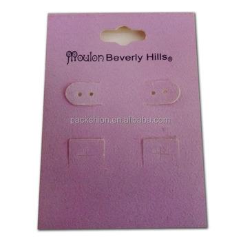 Custom Earring Cards Jewelry Display Card Print Vendor