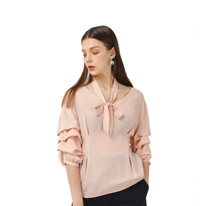 Best Brand Fashion Clothes Designs Latest Bandage Blouse Womens