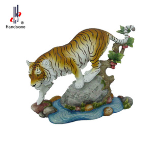 "13.5"" discount products resin tiger statue animal craft for gift"
