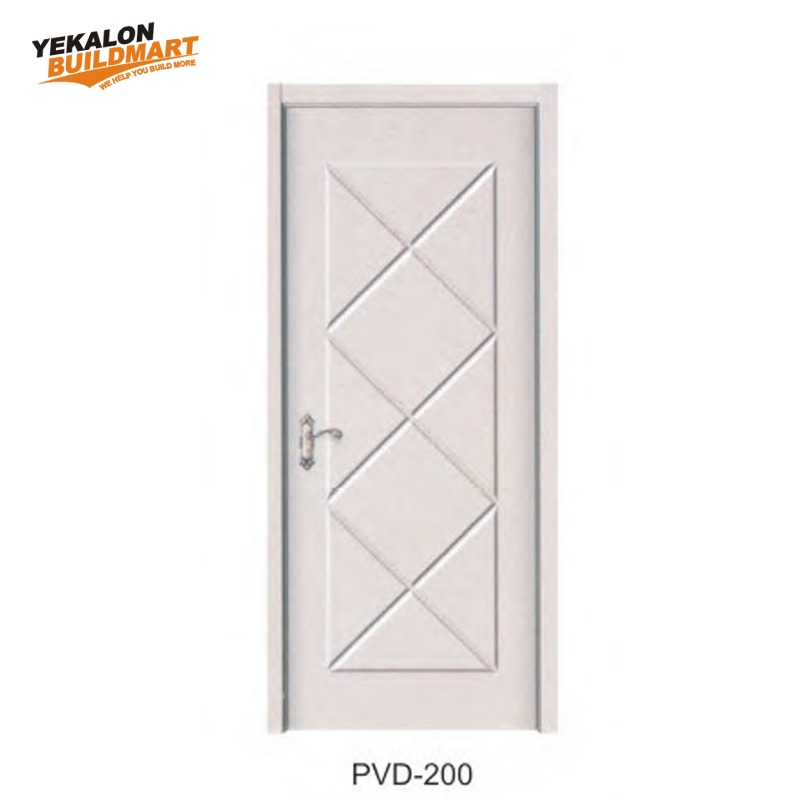 Laminate Coated Composite Veneer Mdf Door Flush Interior Wooden Door Pvc Door