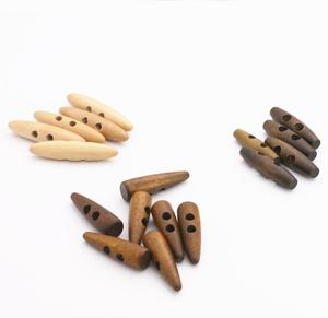Wooden buttons natural toggle button for coat big size different colors sewing buckle apparel accessories