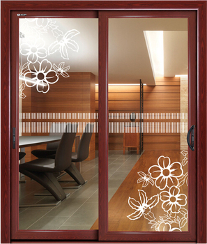 Living Room Door Design, Interior Wooden Glass Sliding Doors, Aluminium Glass  Door Design