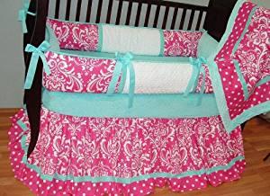 Modpeapod Abigail Damask Breathable Baby Bedding Set
